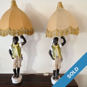 Keramik-Lampenpaar um 1950