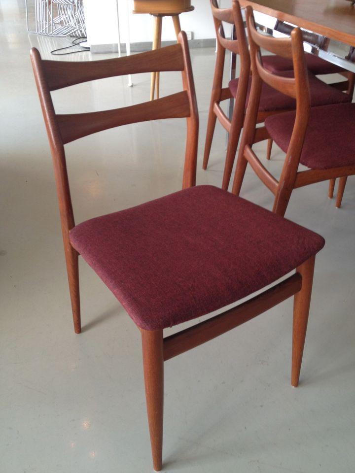 8 Dänische Teakstühle Elastique Zürich Vintage Möbel Furniture