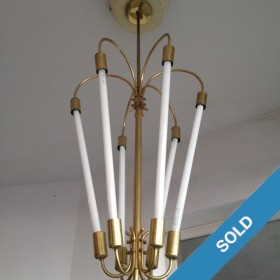 50s Lampe Neon/Messing