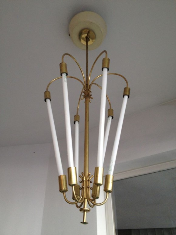 Neon Messing Lampe 1