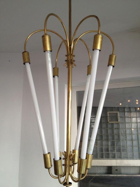 Neon Messing Lampe 2