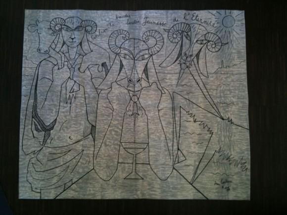 Jean Cocteau Wandbehang Tapestry 1