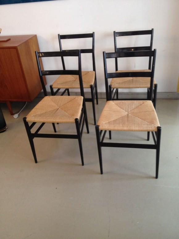 4 Gio Ponti Leggera Chairs 1