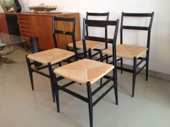 4 Gio Ponti Leggera Chairs 2