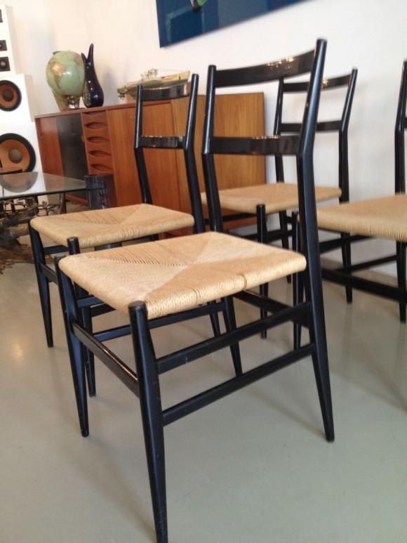 4 Gio Ponti Leggera Chairs 3