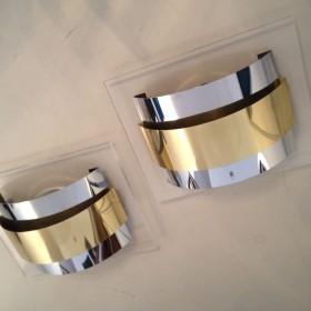 Plexi-Metall-Wandleuchten