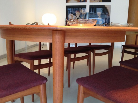 Danish Extendable Teak Table Tisch 5