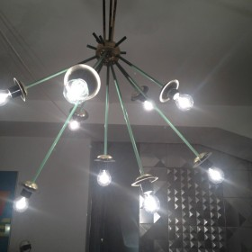 Sputnik-Lampe aus Messing