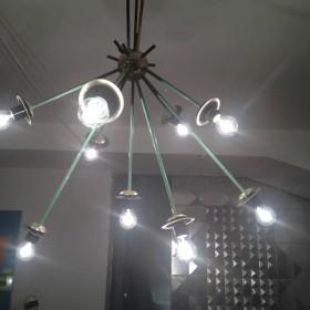 Sputnik-Lampe aus Messing