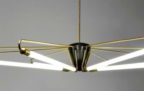 Elastique Neon Deckenlampe 50s 4