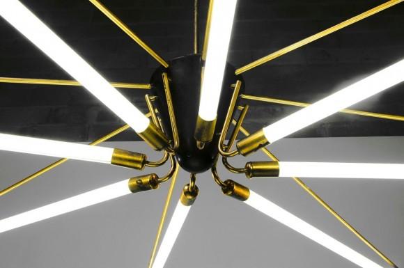 Elastique Neon Deckenlampe 50s 5