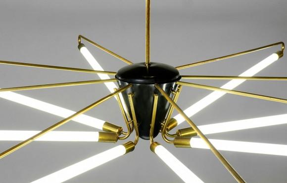 Elastique Neon Deckenlampe 50s 6