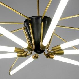 50s-Neon-Leuchter 280 cm