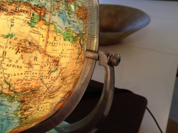 Glas Globus Mit Holzkiste 3