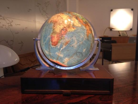 Glas Globus Mit Holzkiste 5