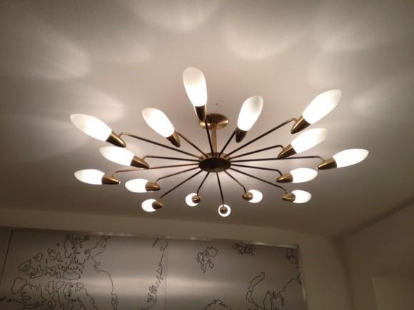 IMG 88561950 Deckenlampe Messing Glas 2