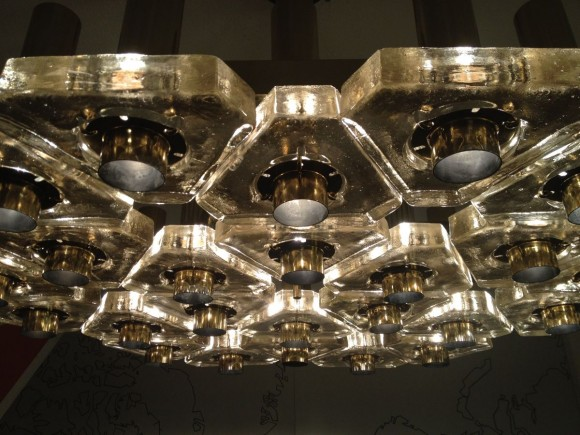 Glass Triangle Ceiling Lamp 1