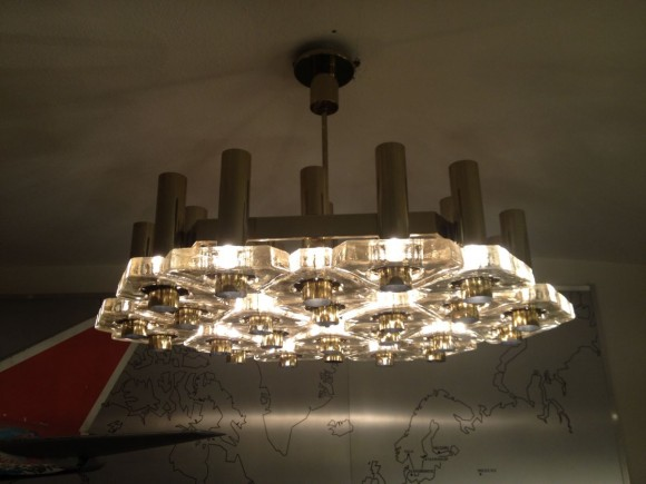 Glass Triangle Ceiling Lamp 2