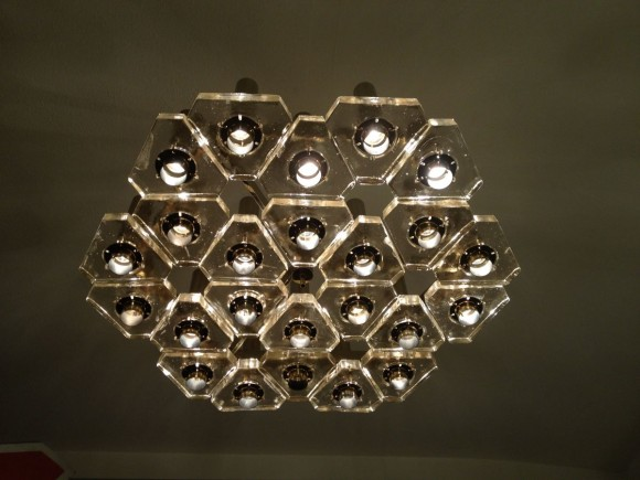Glass Triangle Ceiling Lamp 3