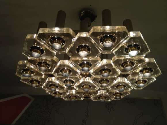Glass Triangle Ceiling Lamp 4