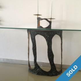 Französische Konsole Glas/Bronze