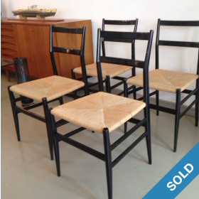4 Gio Ponti Leggera Chairs