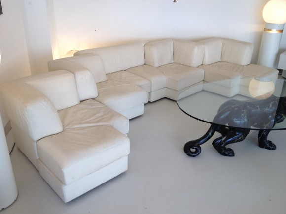 Elastique Zurich Modulare Leder Sitzgruppe 1