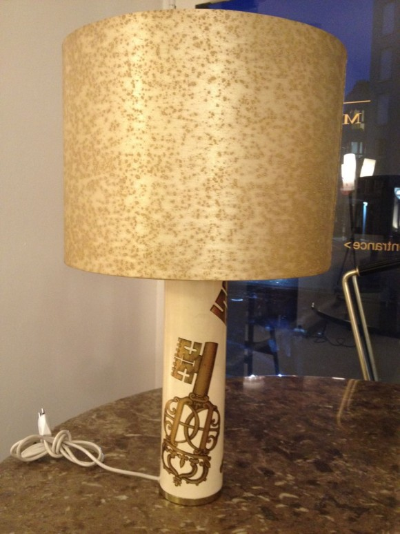 Elastique Zurich Vintage Fornasetti Key Table Lamp 1