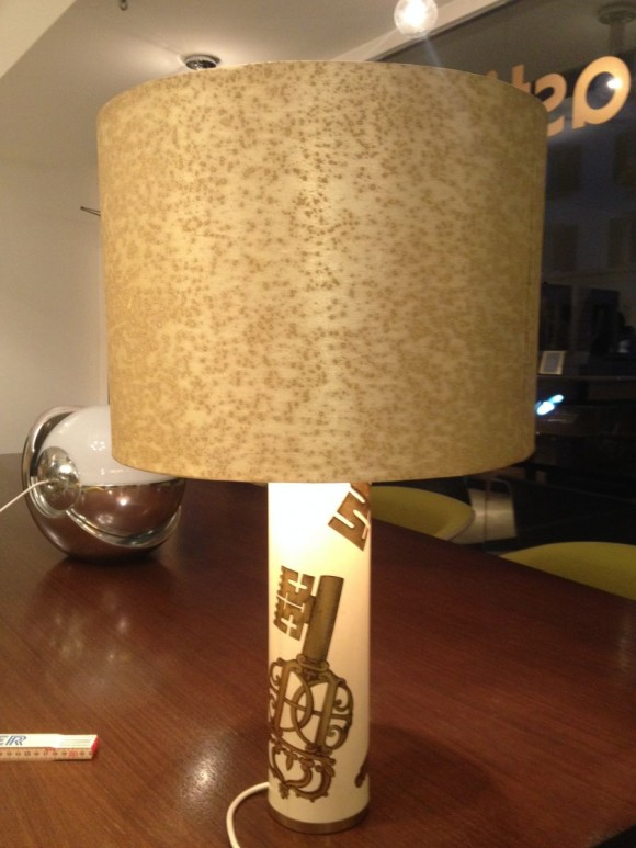 Elastique Zurich Vintage Fornasetti Key Table Lamp 3