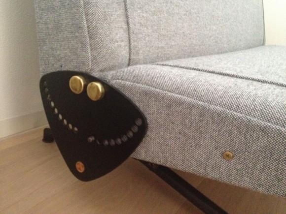 Elastique Zurich Vintage Borsani Sofa D70 Frisch Bezogen 3