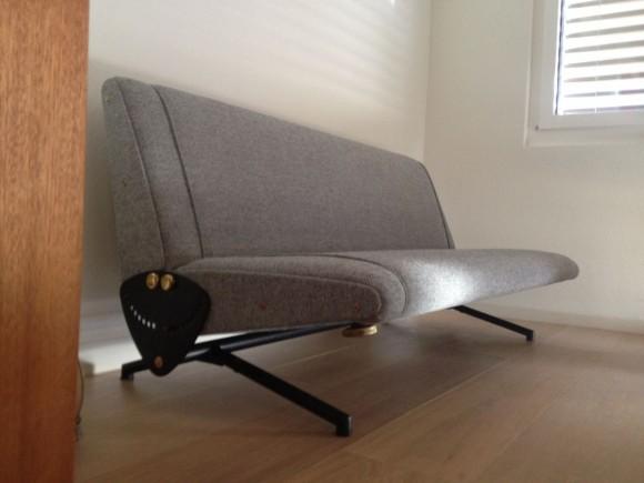 Elastique Zurich Vintage Borsani Sofa D70 Frisch Bezogen 4