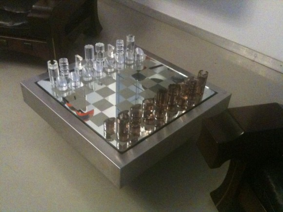 Elastique Vintage Schach Tisch Chess Table Dumas 3