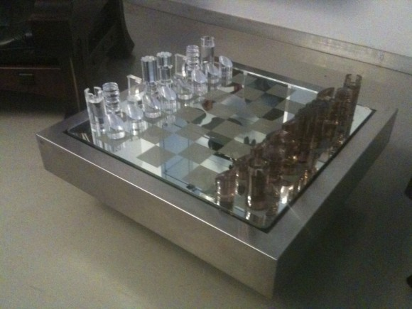 Elastique Vintage Schach Tisch Chess Table Dumas 6