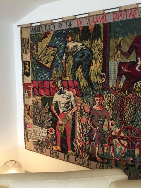 Elastique Vintage Zurich Flaemischer Wandteppich Tapestry Belgium Belgien 5