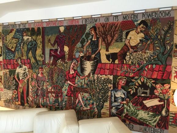 Elastique Vintage Zurich Flaemischer Wandteppich Tapestry Flemish Carpet Vlamse Tapijtweverij VTW Belgium Belgien 1