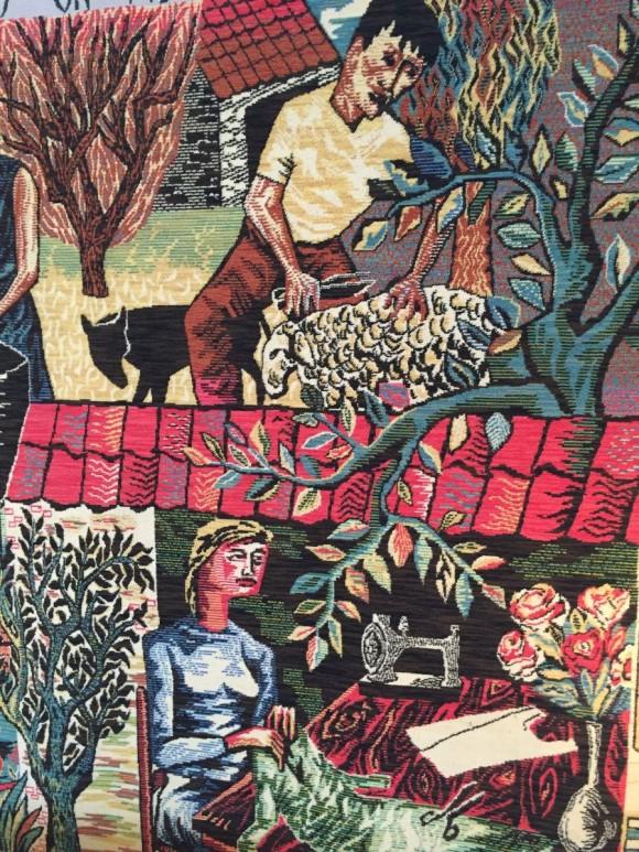Elastique Vintage Zurich Flaemischer Wandteppich Tapestry Flemish Carpet Vlamse Tapijtweverij VTW Belgium Belgien 2