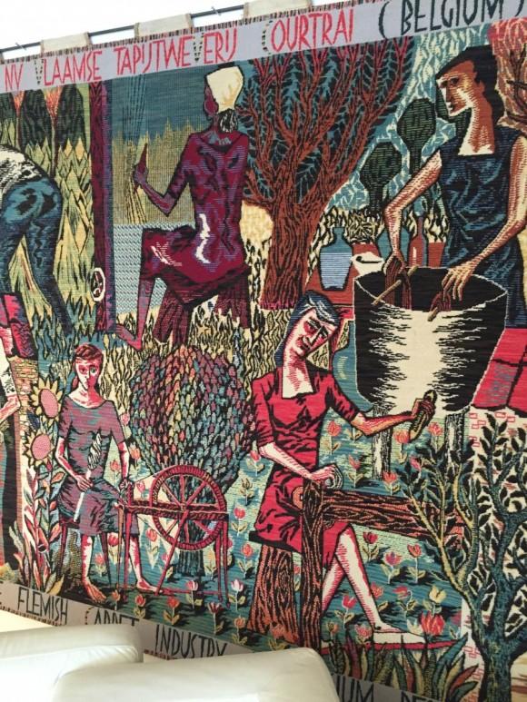Elastique Vintage Zurich Flaemischer Wandteppich Tapestry Flemish Carpet Vlamse Tapijtweverij VTW Belgium Belgien 4