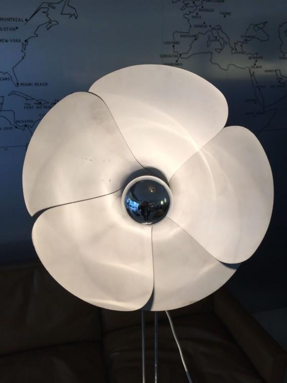Elastique Vintage Zurich Olivier Mourgue Flower Lamp 1970 1