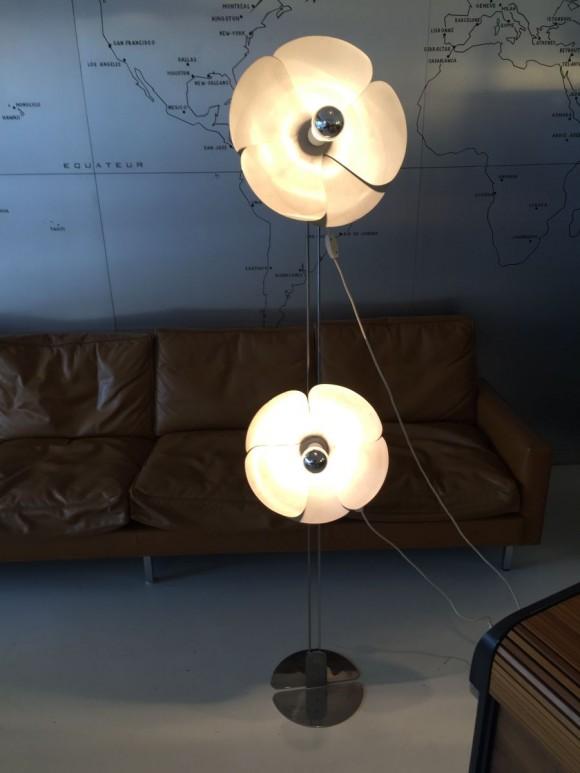 Elastique Vintage Zurich Olivier Mourgue Flower Lamp 1970 5