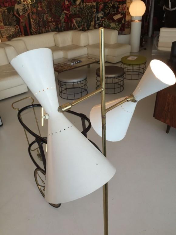 Elastique Vintage Zurich Stehlampe Baumann Koelliker 1950 3