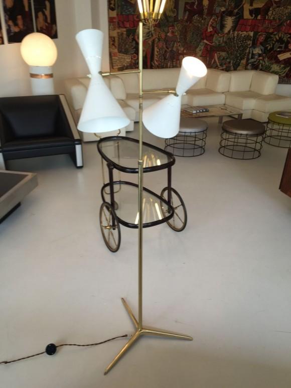 Elastique Vintage Zurich Stehlampe Baumann Koelliker 1950 4