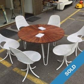 60s-Gartenstühle und Tisch