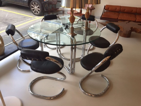 Elastique Zurich Vintage Giotto Stoppino Serpent Chairs Stuehle 7