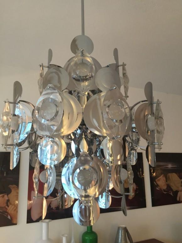 Elastique Vintage Zurich Italian Sputnik Lamp 2