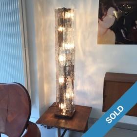 Glas-Stehlampe von Mazzega