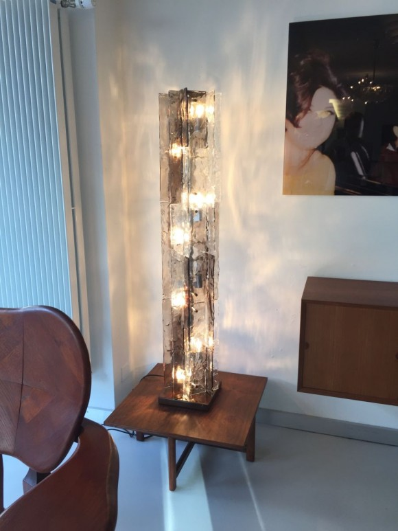 Elastique Vintage Zurich Mazzega Glass Tower Lamp 1