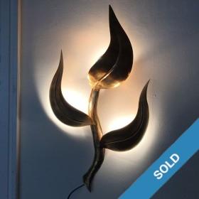 5 Wandlampen aus Messing