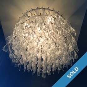 Grosser Glasspiralen-Leuchter
