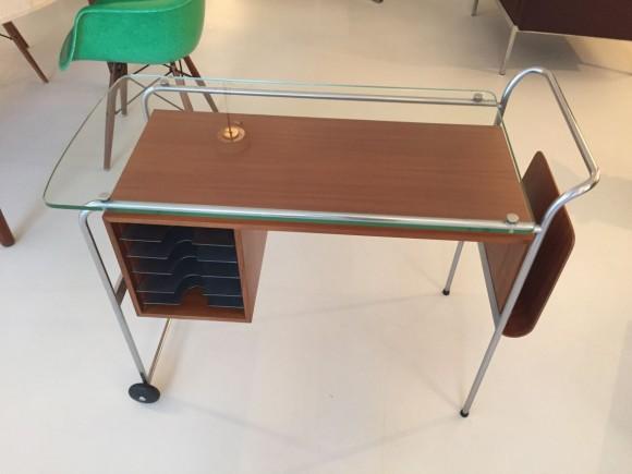 Elastique Vintage Zuerich Rolling Desk Mobiles Pult Schreibtisch 2