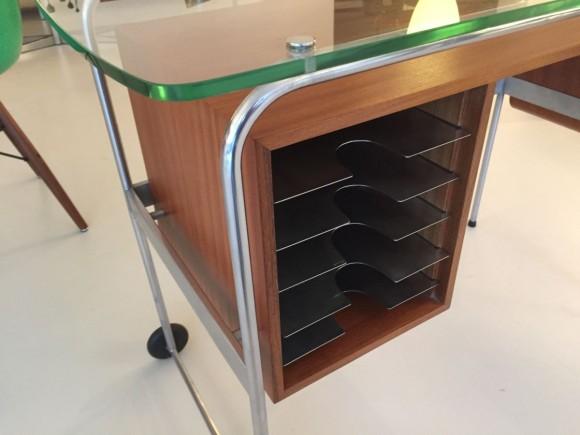Elastique Vintage Zuerich Rolling Desk Mobiles Pult Schreibtisch 3
